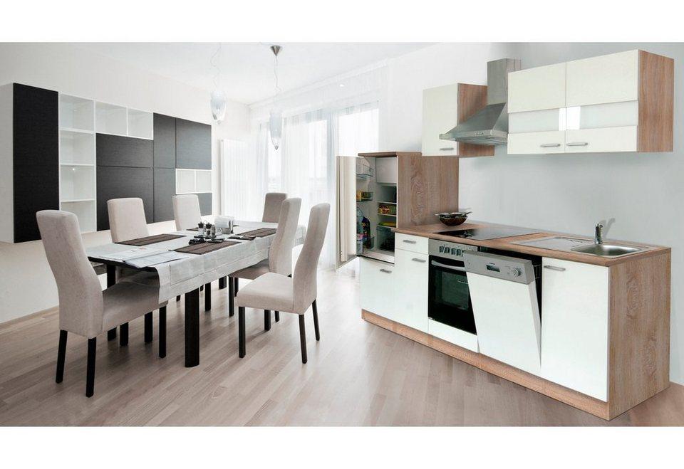 Kuchenzeile Mit E Geraten Anna Breite 280 Cm Mit Glaskeramik