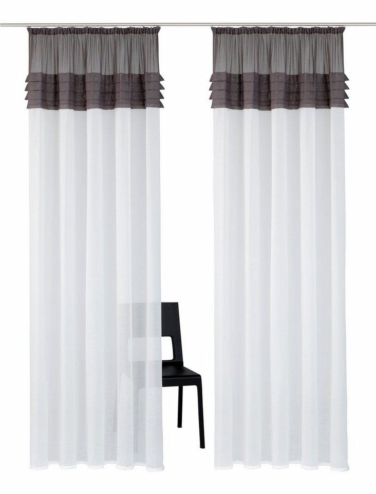 gardine gander home affaire collection kr uselband 2 st ck online kaufen otto. Black Bedroom Furniture Sets. Home Design Ideas
