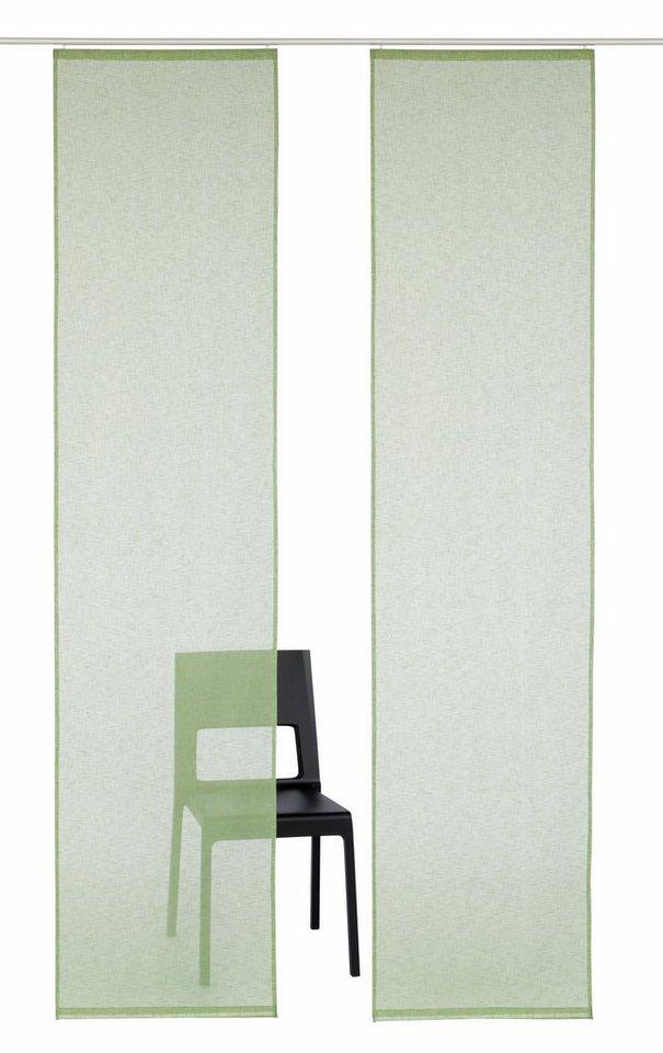 Schiebegardine uni, my home, »Turek« (2 Stück) in grün