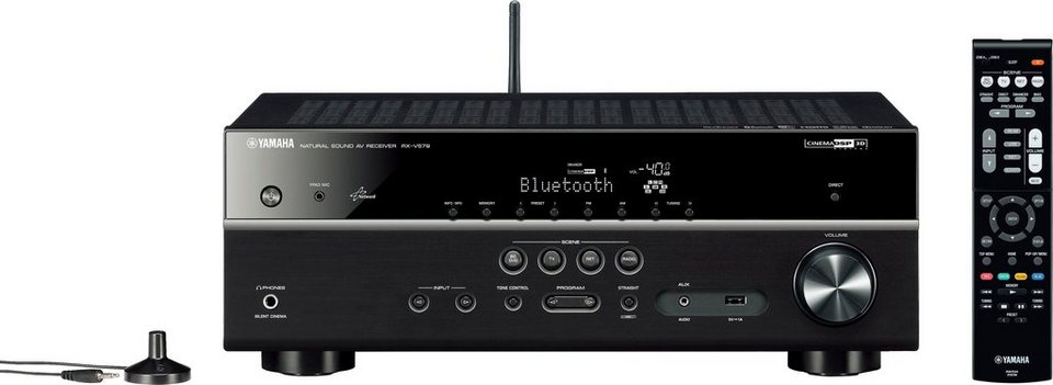 Yamaha RX-V579 7.2 AV-Receiver (Hi-Res, 3D, Spotify Connect, Airplay, WLAN, Bluetooth) in schwarz