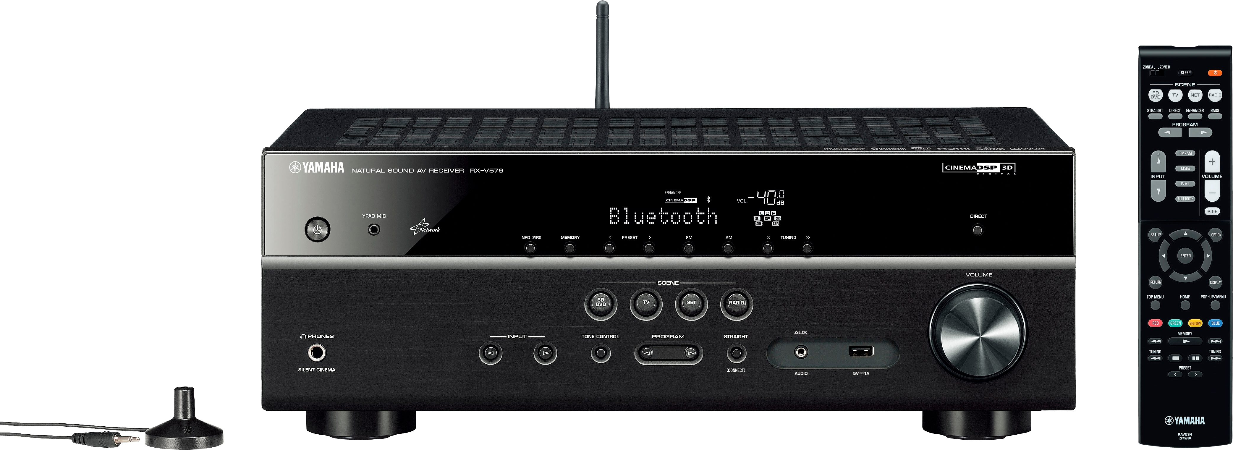 Yamaha RX-V579 7.2 AV-Receiver (Hi-Res, 3D, Spotify Connect, Airplay, WLAN, Bluetooth)