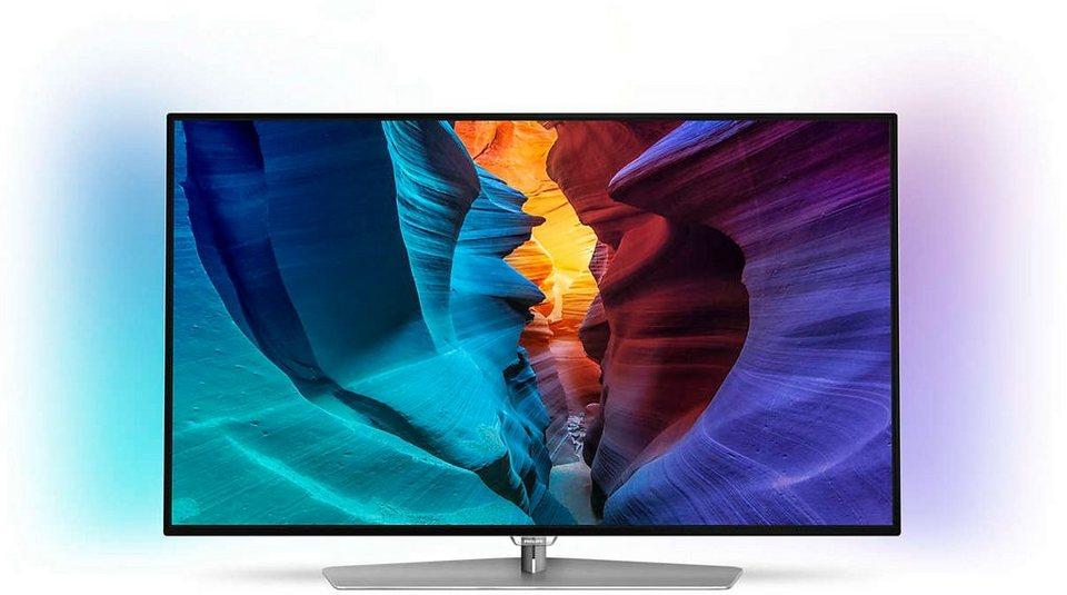 Philips 55PFK6300/12, LED Fernseher, 140 cm (55 Zoll), 1080p (Full HD) Ambilight in schwarz/silberfarben