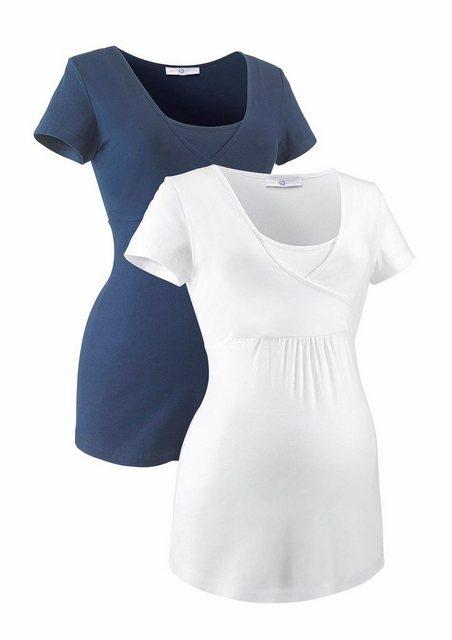 Neun Monate Umstandsshirt (Packung, 2-tlg) ideal zum Stillen | Bekleidung > Umstandsmode > Umstandsshirts | neun monate