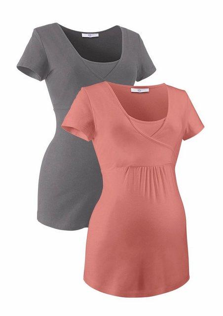 Neun Monate Umstandsshirt (Packung, 2-tlg) mit bequemer Stillfunktion | Bekleidung > Umstandsmode > Umstandsshirts | neun monate