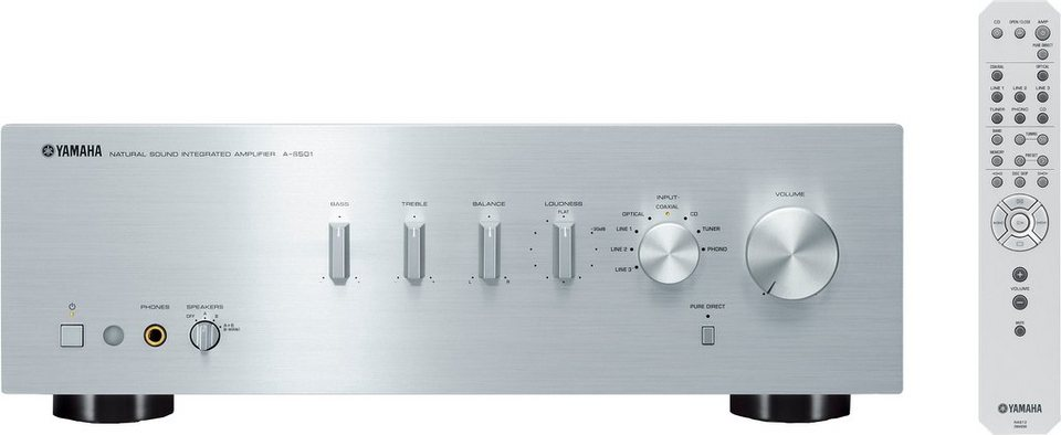 A-S501 Stereo-Verstärker in silberfarben