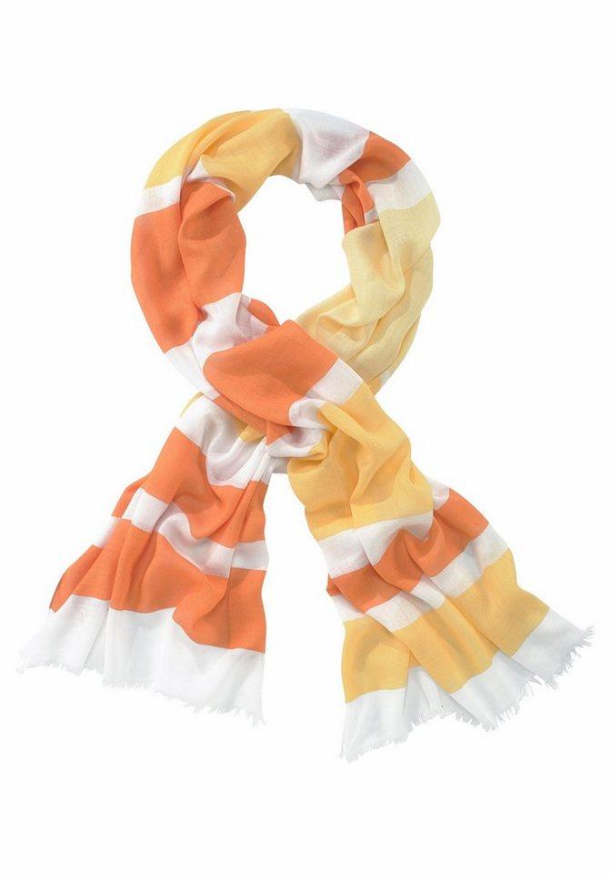 J. Jayz Schal »im Streifen-Design« in orange-weiß