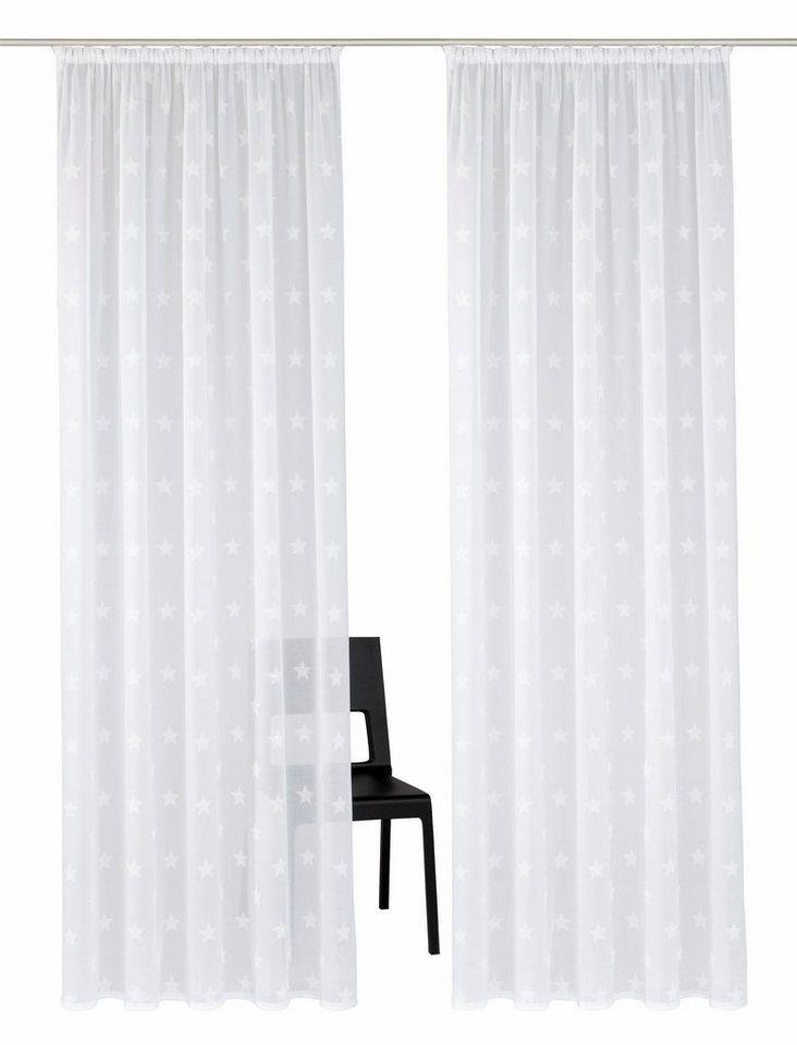 gardine my home montreal mit kr uselband sterne 2 st ck online kaufen otto. Black Bedroom Furniture Sets. Home Design Ideas
