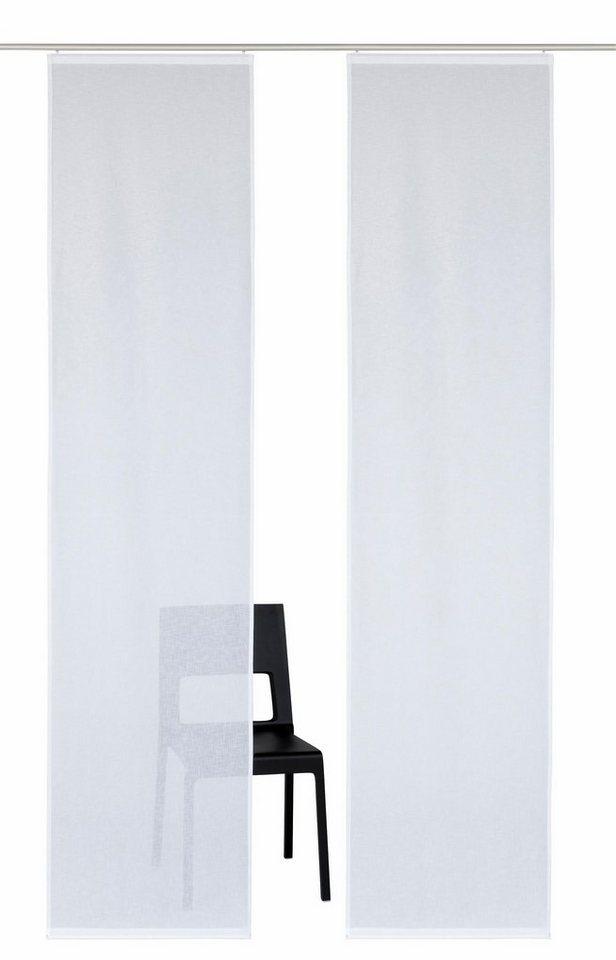 Schiebegardine uni, my home, »Turek« (2 Stück) in weiß