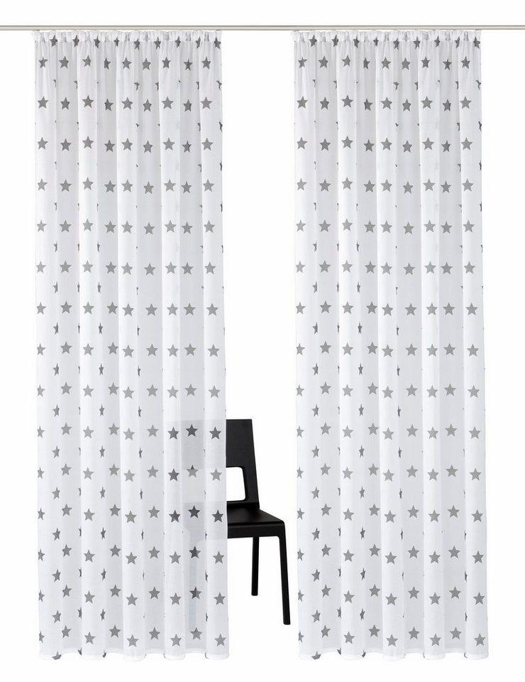 Gardine, my home, »Montreal« (2 Stück) in weiß-grau