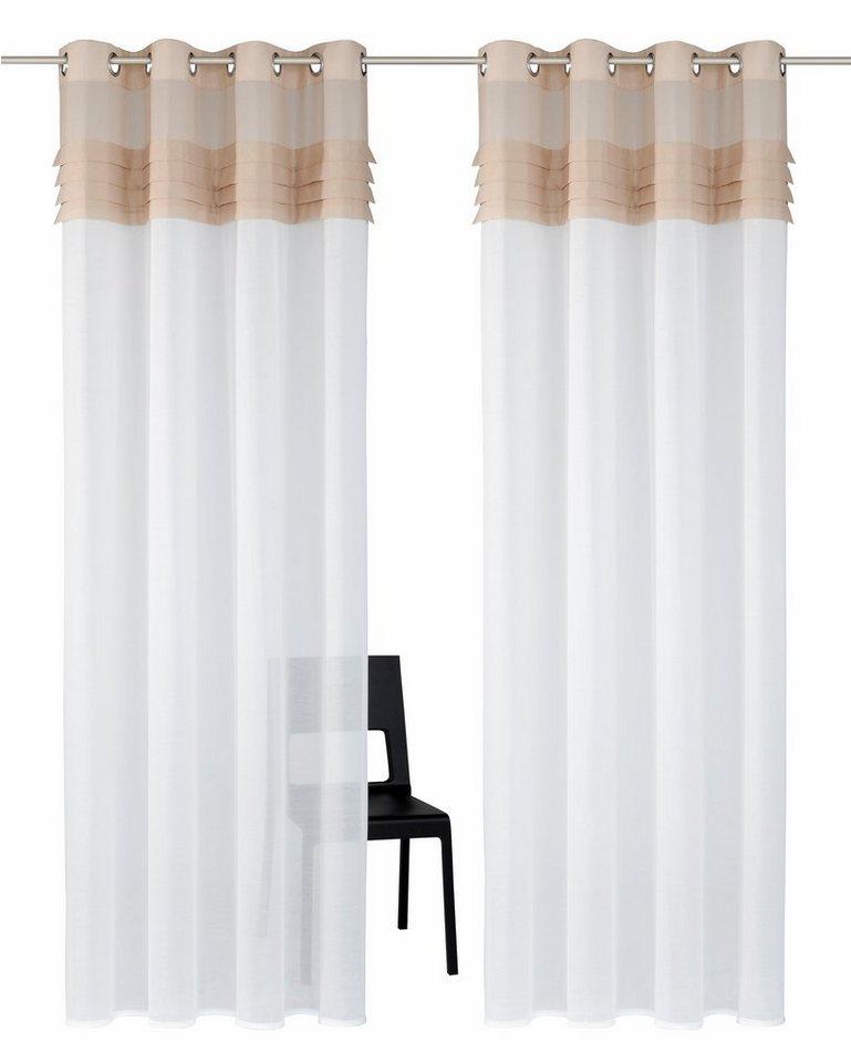 gardine home affaire collection gander mit sen 2 st ck online kaufen otto. Black Bedroom Furniture Sets. Home Design Ideas