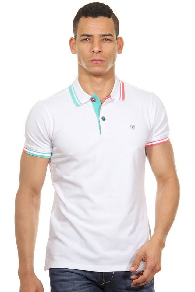 MCL Poloshirt slim fit in weiss