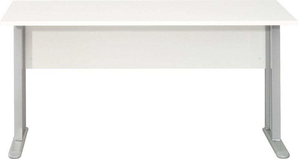 CS Schmal Schreibtisch Typ 52 »rio ART« in weiß