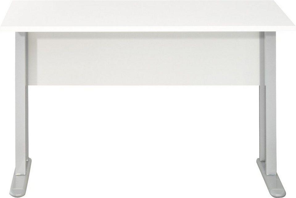 CS Schmal Schreibtisch Typ 51 »rio ART« in weiß