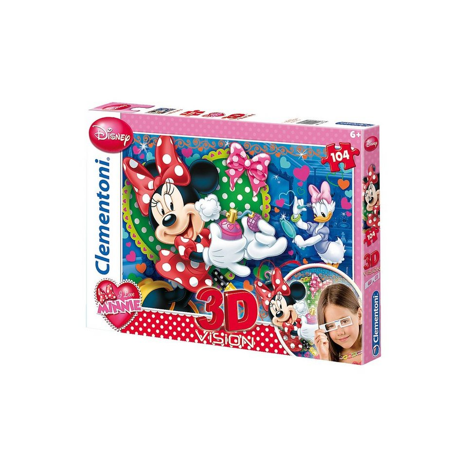 Clementoni Puzzle 3D Vision 104 Teile - Minnie Mouse