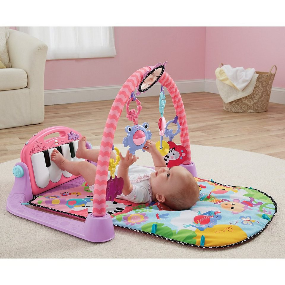 Mattel Fisher Price Spieldecke Piano Gym, pink