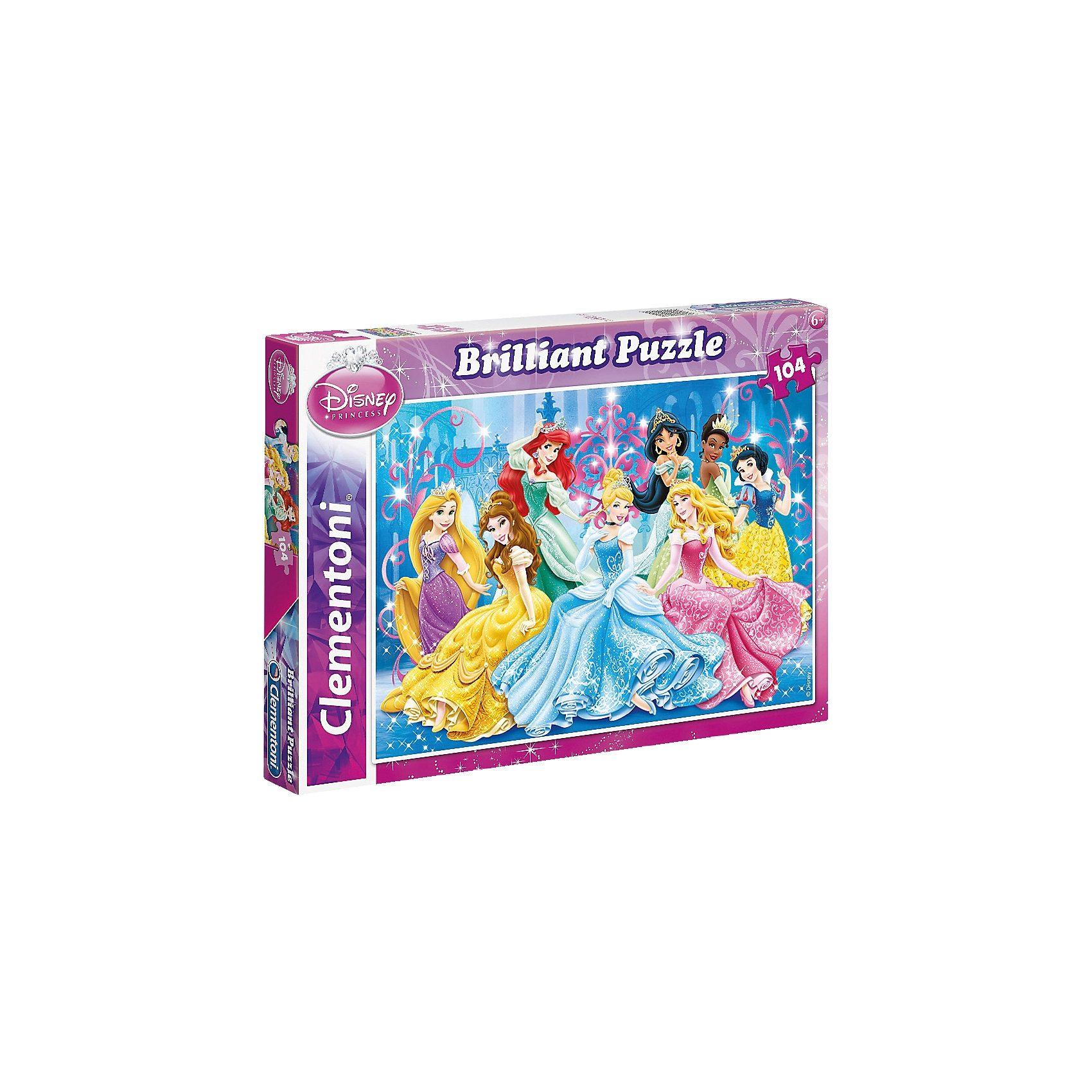 Clementoni Brilliant Puzzle 104 Teile - Disney Princess