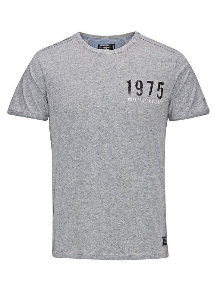 Jack & Jones Lässig, mit Markenlogo bedruckt T-Shirt in Light Grey Melange