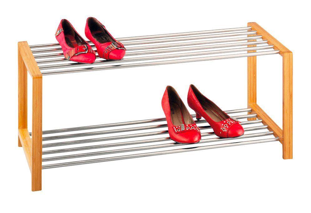 Schuhregal aus Edelstahl »Bamboo«, Länge 83 cm