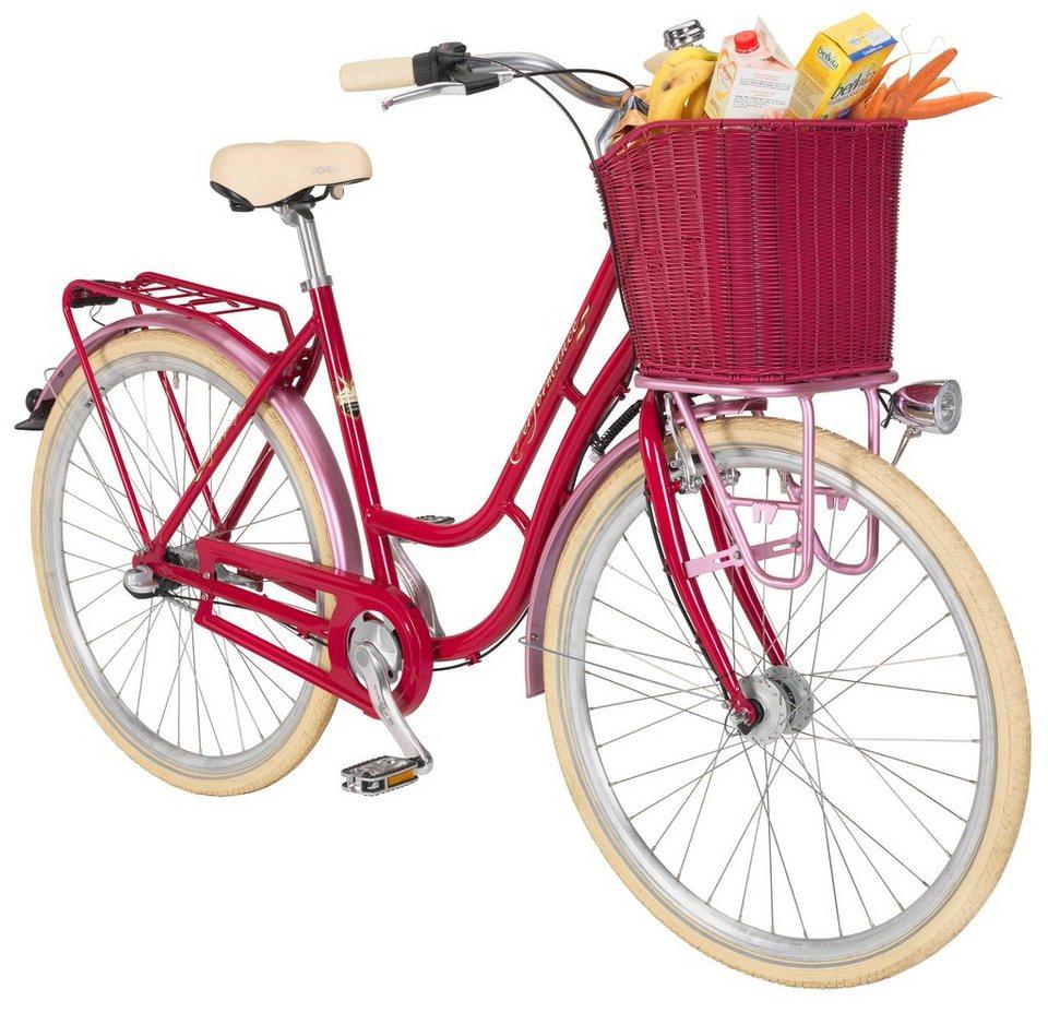 Citybike Damen »Valencia «, 28 Zoll, 3 Gang, Rücktrittbremse in rosa
