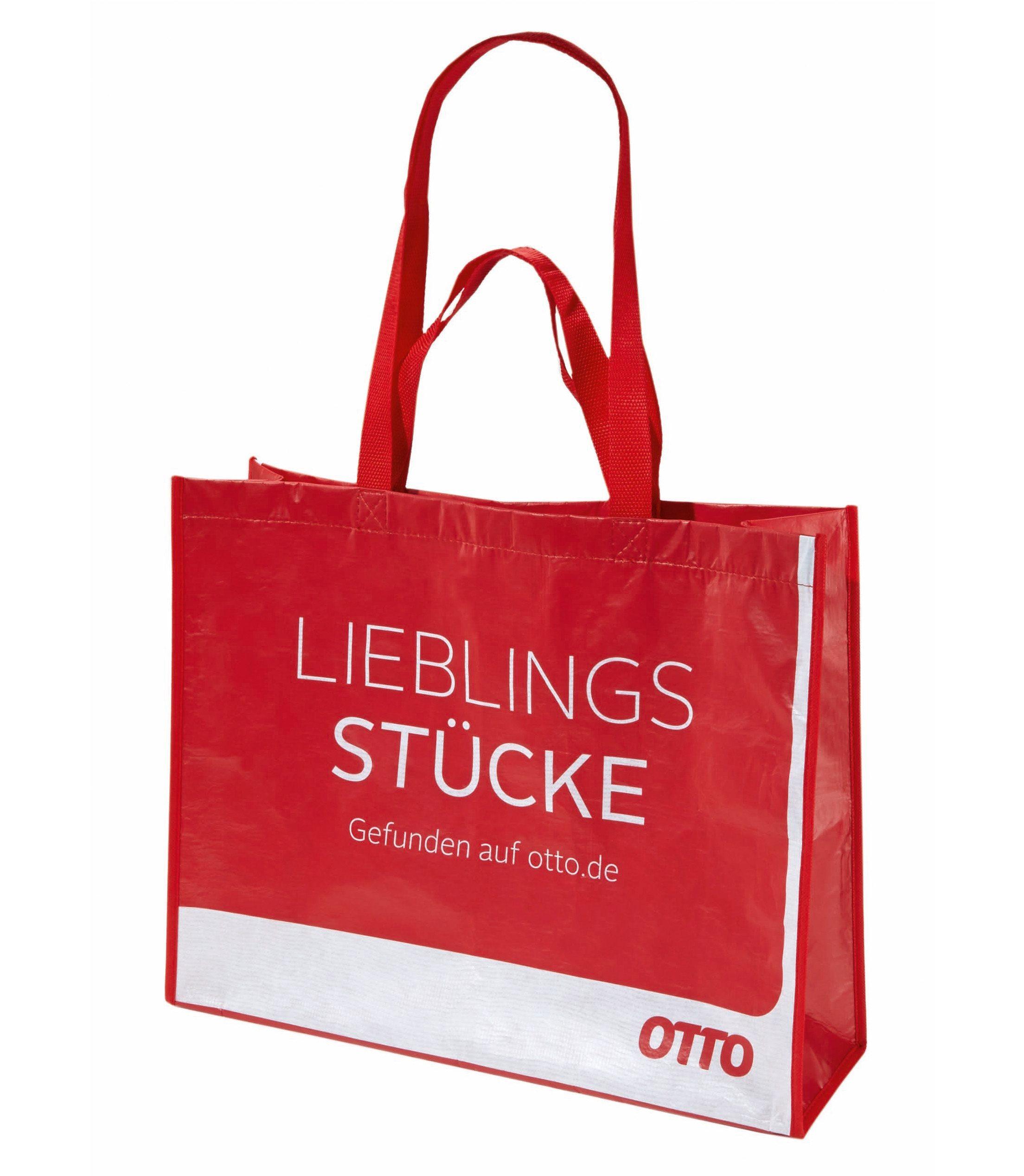 Einkaufstasche (5er-Set) aus 85% recycelten Kunststoff-Flaschen. Wasserbeständig und reißfest.