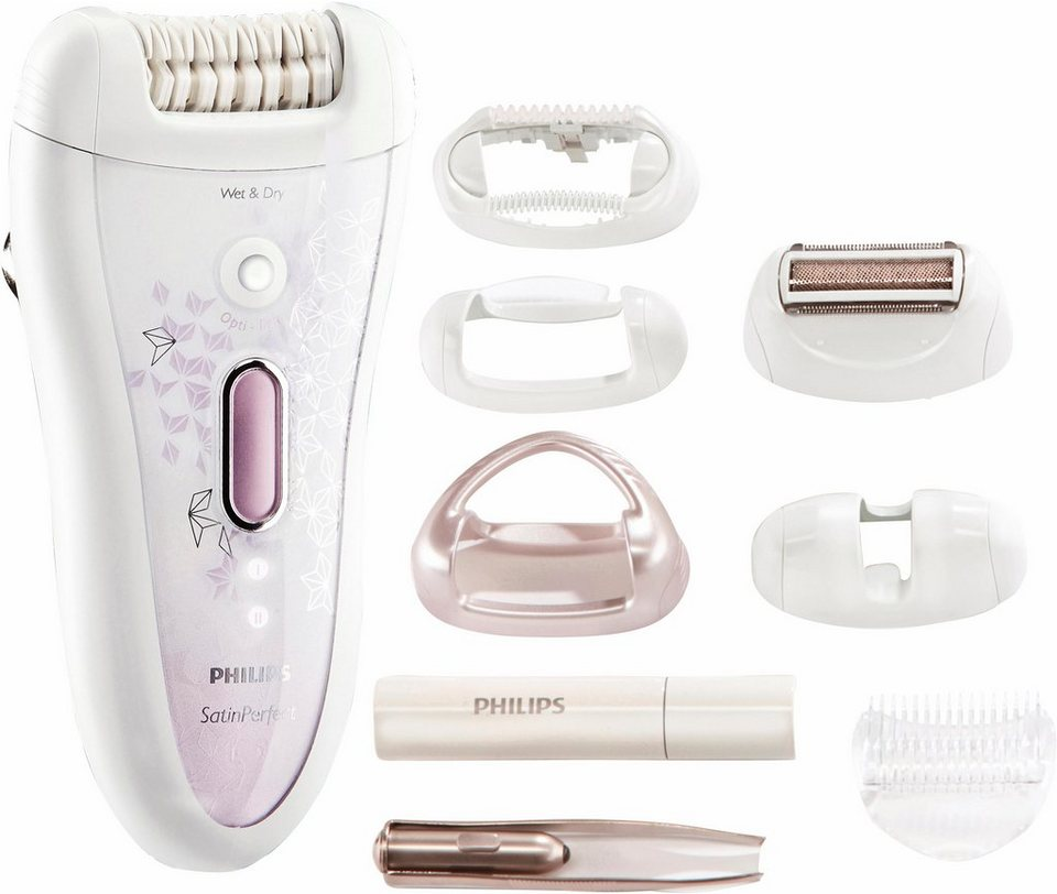 Philips Epilierer HP6583/02 Satin Perfect Wet&Dry in weiß / lila
