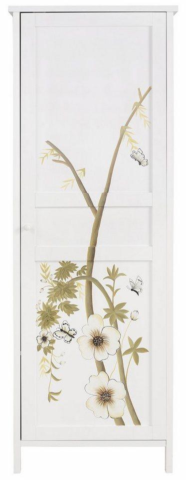 Home affaire Garderobenschrank »Flower« (1-türig oder 2-türig) in weiß