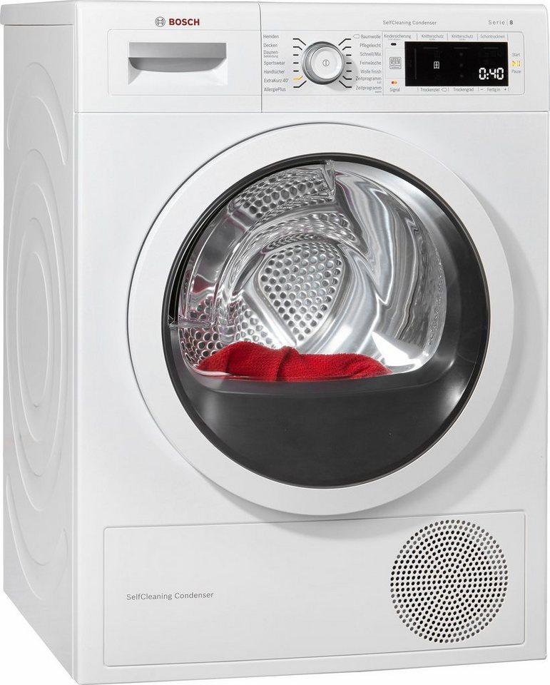 BOSCH Trockner WTW875V1, A++, 9 kg in weiß