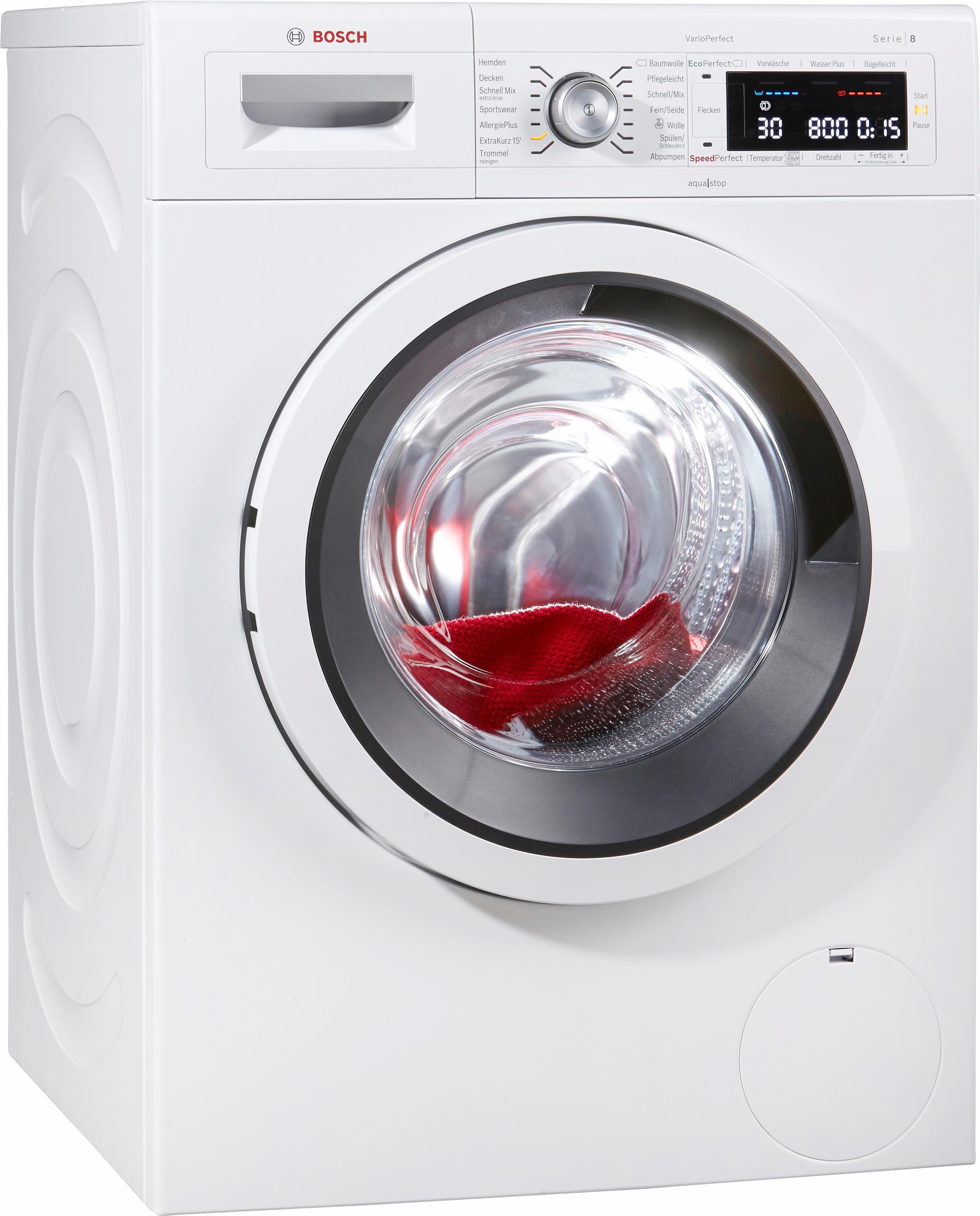 BOSCH Waschmaschine Serie 8 WAW285V1, A+++, 9 kg, 1400 U/Min