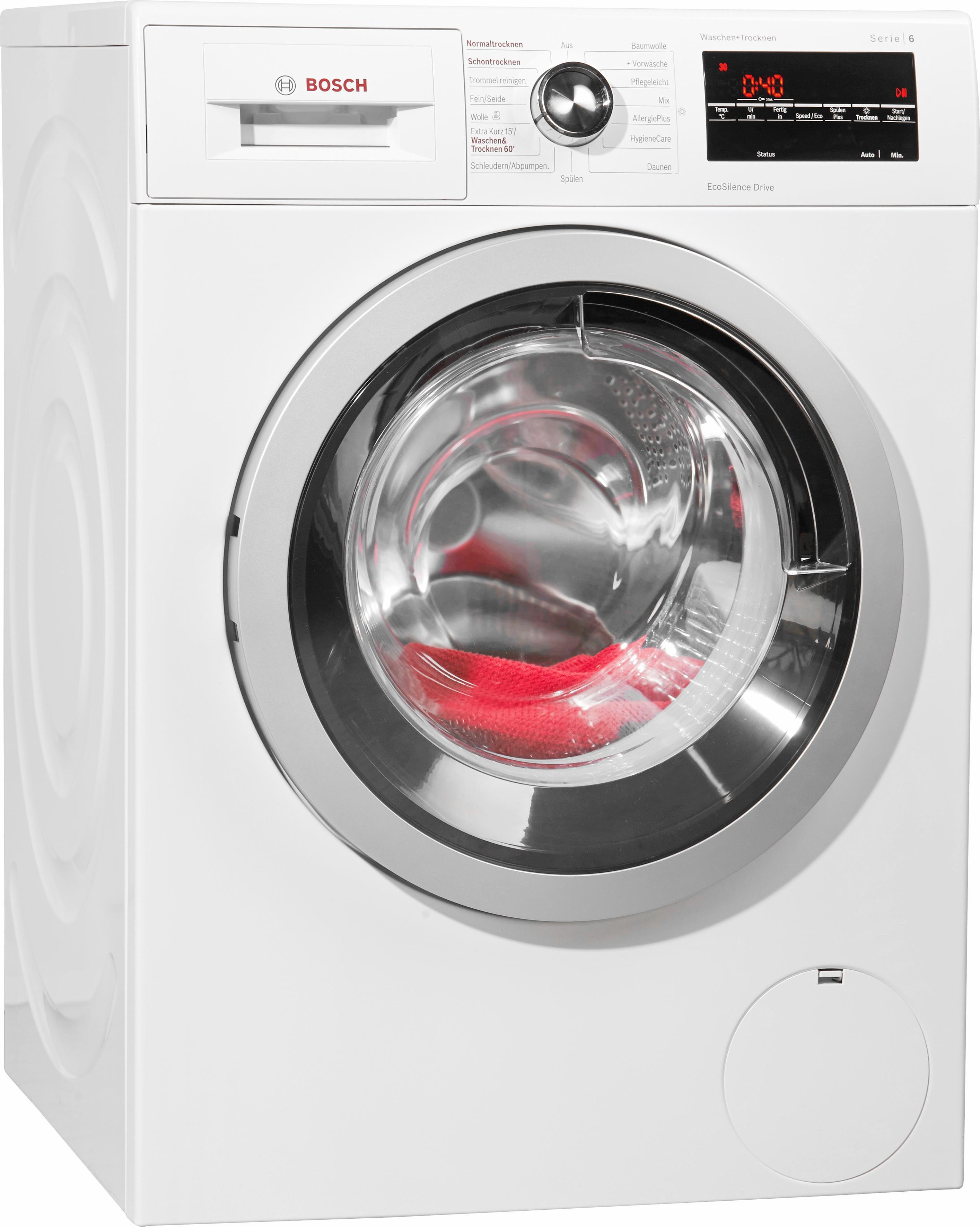 BOSCH Waschtrockner Serie 6 WVG30442, A, 8 kg / 5 kg, 1.500 U/Min