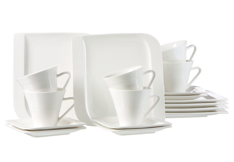 Ritzenhoff & Breker Kaffeeservice, Porzellan, 18 Teile für 6 Personen, »Levanto«