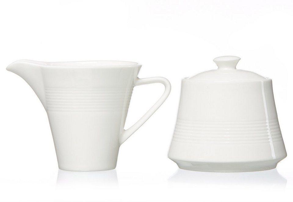 Ritzenhoff & Breker Milch/Zucker-Set, Porzellan , »Levanto« (2tlg.) in weiß