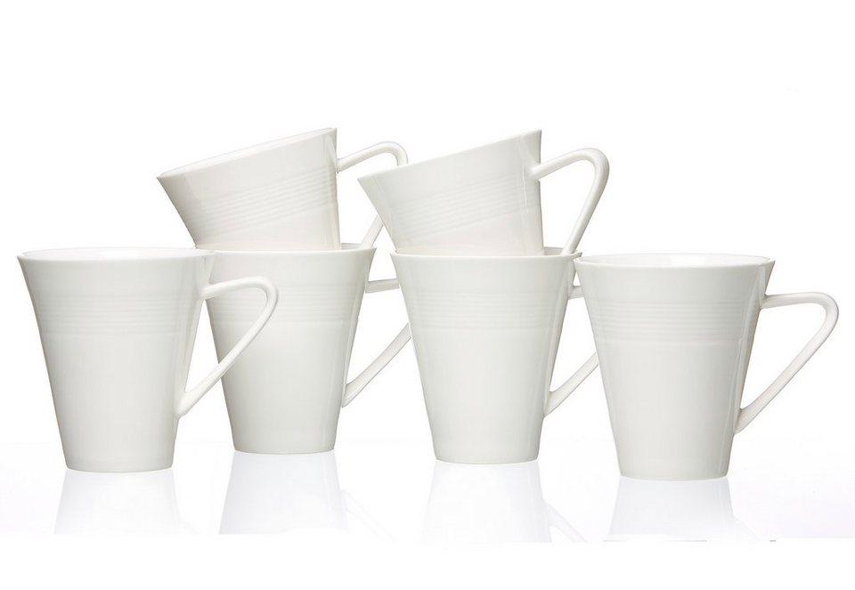 Ritzenhoff & Breker Kaffeebecher, Porzellan, »Levanto« (6 Stck.) in weiß