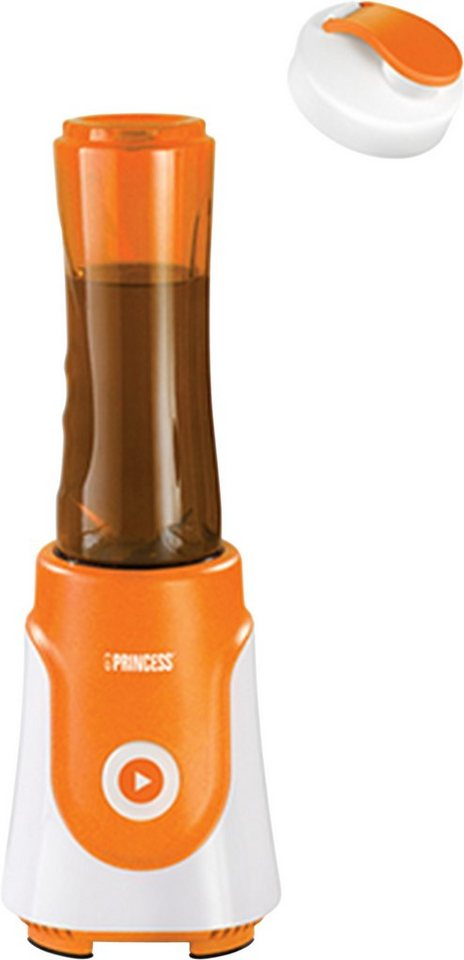 Princess Standmixer Personal Blender Fresh Orange, 250 Watt, 1 Stufe in Orange/Weiß