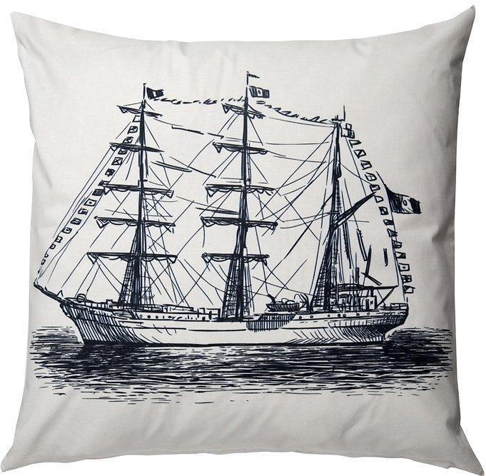 Kissen gefüllt, Homing, »Vessel« (1er Pack) in schwarz-weiß