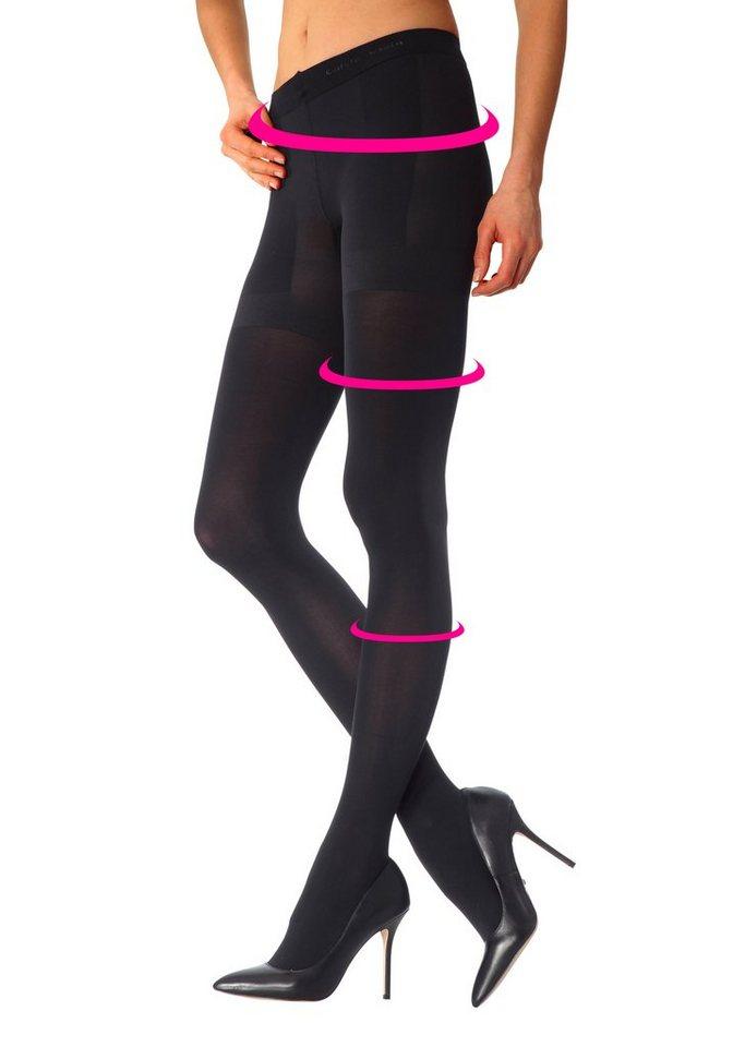 Calvin Klein Formstrumpfhose matt glänzend & blickdicht in schwarz