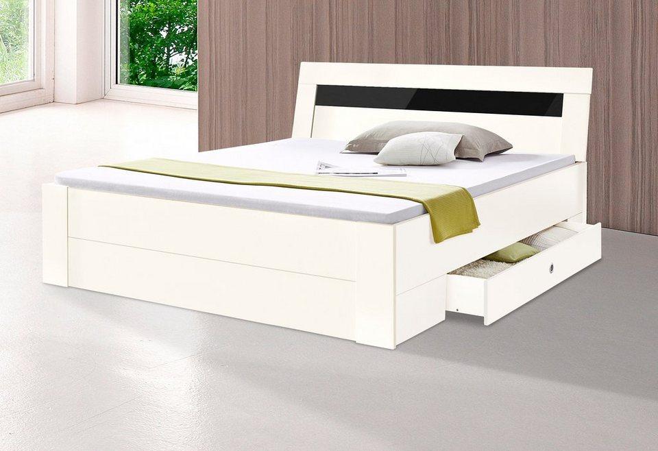 Wimex Staumraumbett in weiß/Grauglas
