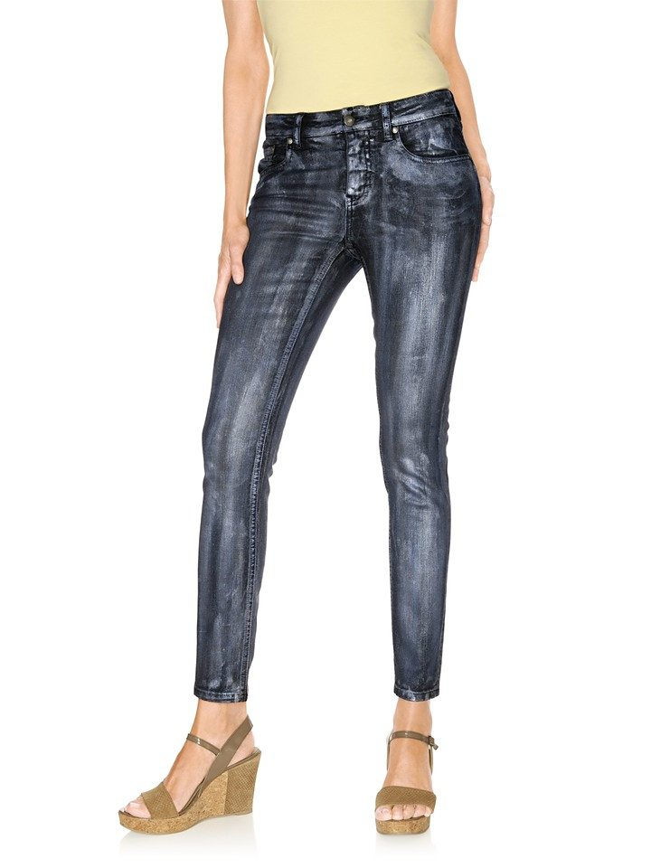 Push-up Jeans in blue denim