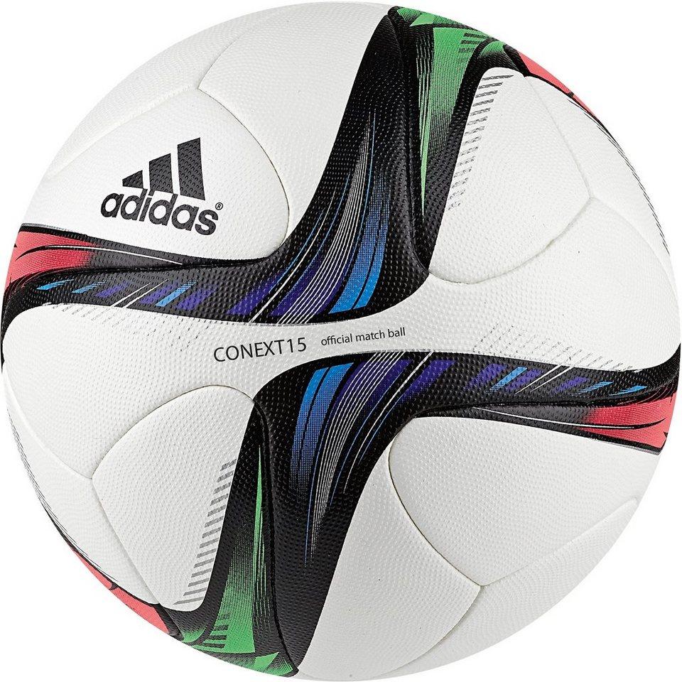 adidas Performance Conext 15 Matchball in weiß / grün / rot