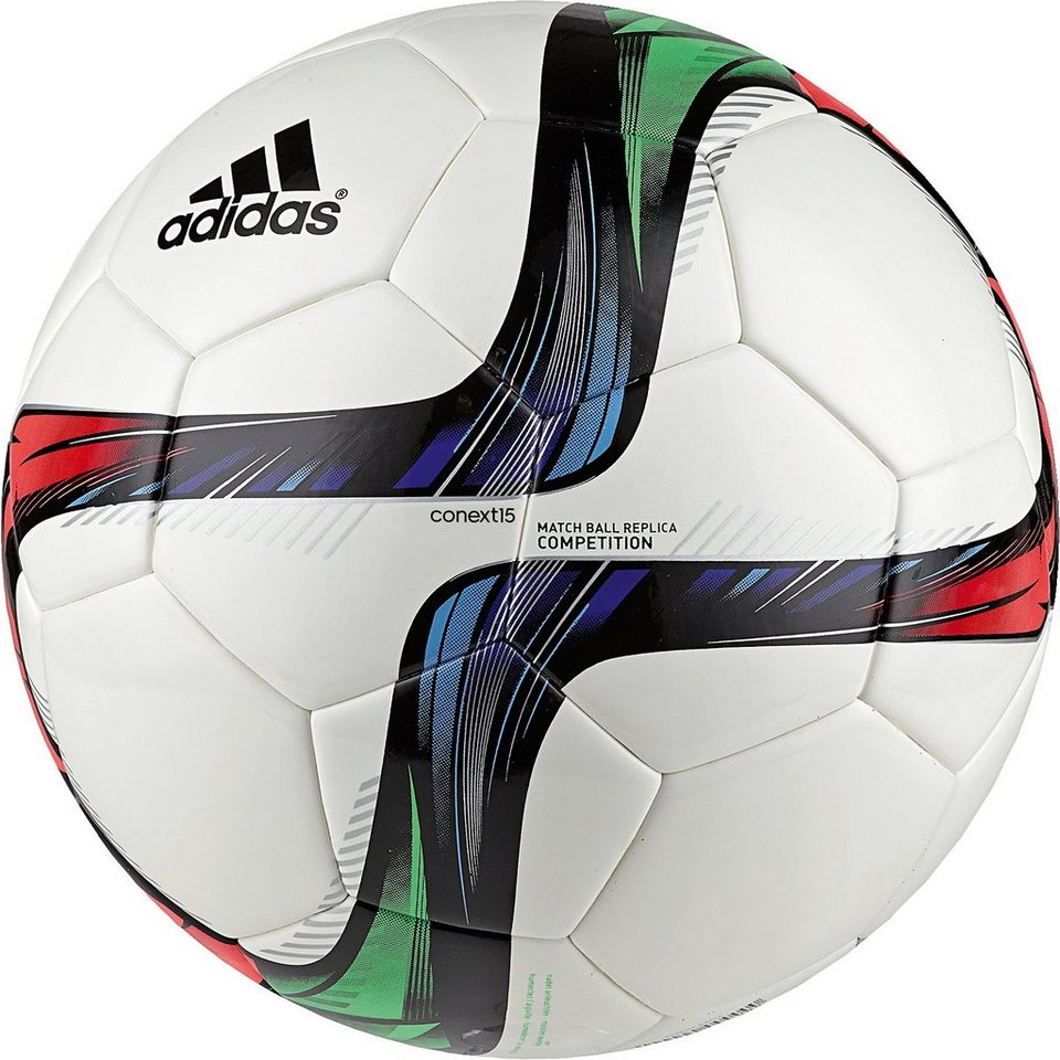 adidas Performance Conext 15 Competition Matchball in weiß / grün / rot