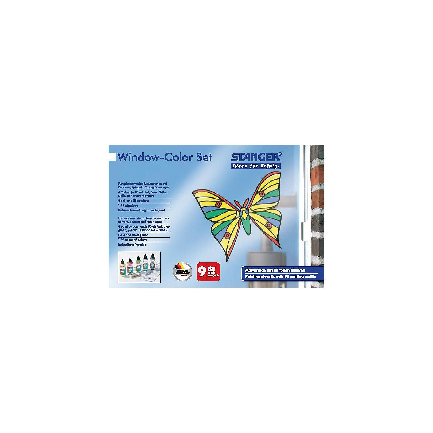 Stanger Window Color Set Schmetterling, 9-tlg.