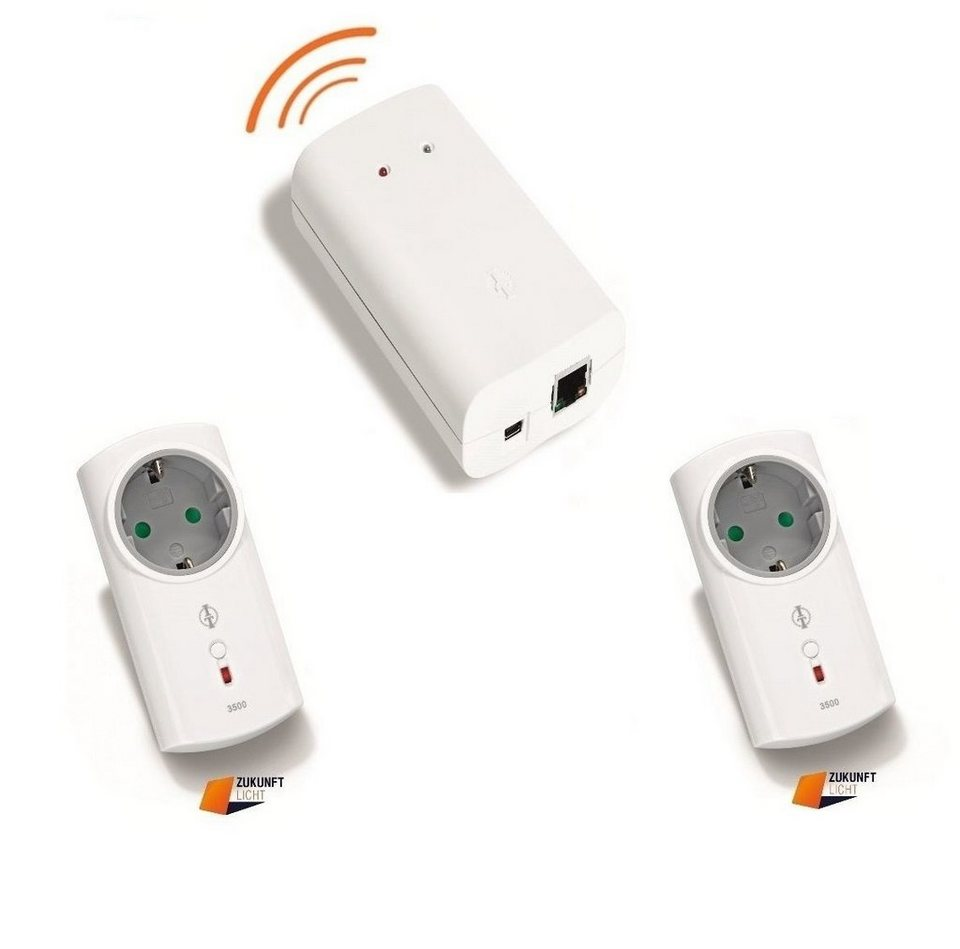 intertechno - Smart Home - Komfort - Starter Set »ITGW-433L Gateway inkl. 2 Funksteckdosen« in weiss