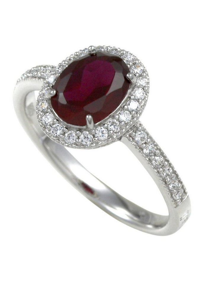 Merii Ring, »M0801R/90/75/50-60« in Silber 925/rot