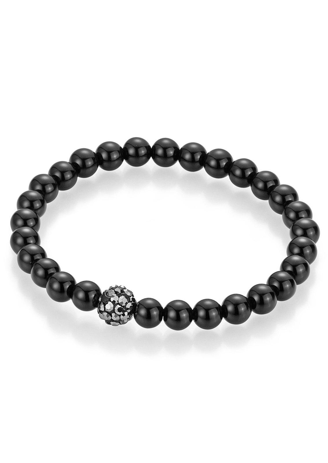 firetti Armschmuck: Armband mit Achat-Perlen und Kristallsteinen