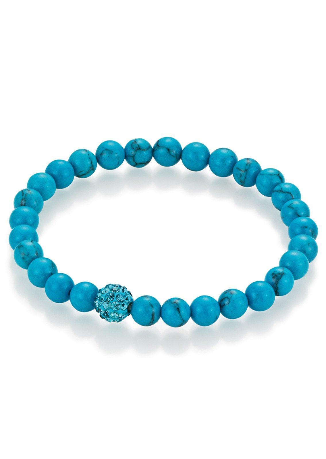 """firetti Armschmuck: Armband """"Türkis-Perlen"""" und Kristallsteinen"""