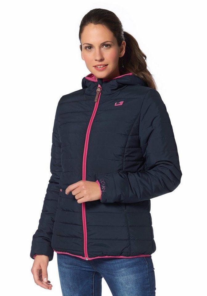 Ocean Sportswear Wendejacke in Marine-Pink