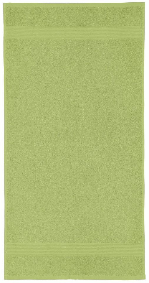 Handtücher, my home, »Sina«, mit fein gemusterter Bordüre in grün