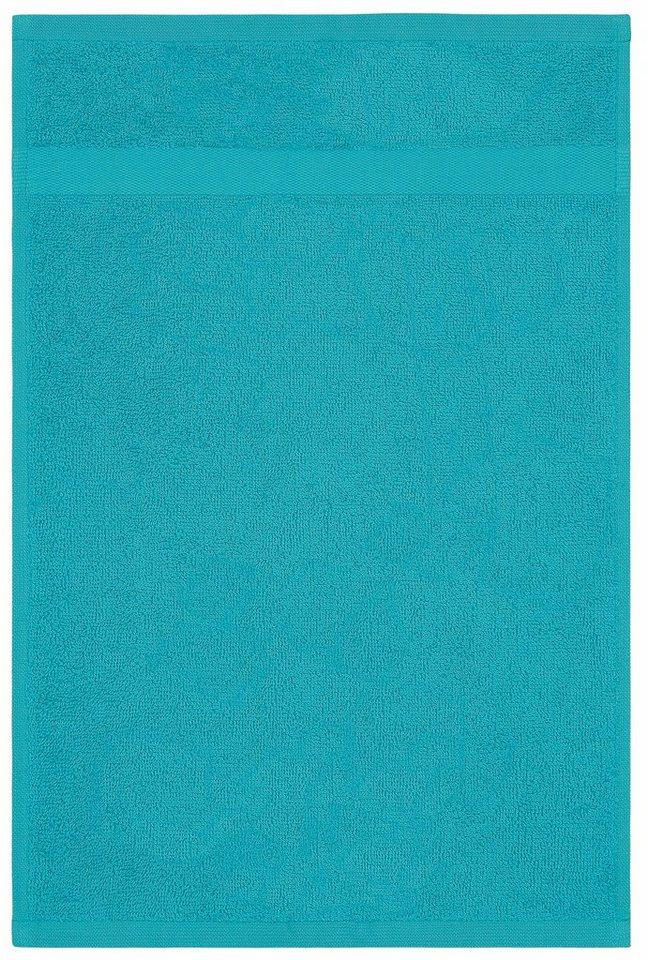 Badetücher, my home, »Bernadette«, mit dezenter Bordüre in hellblau