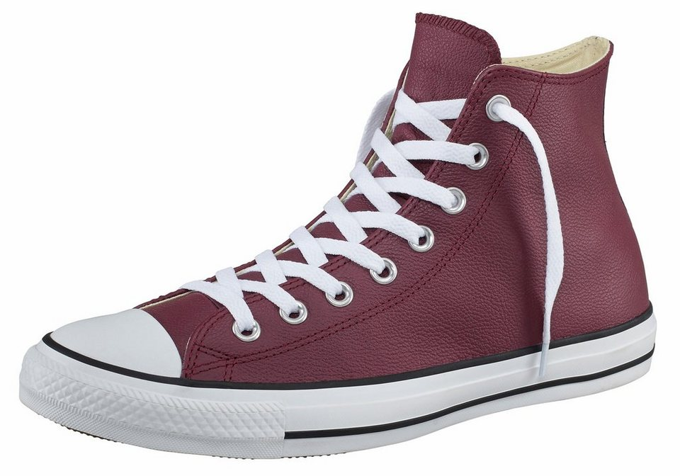 Converse All Star CTAS Seasonal Leather Sneaker in Bordeaux-rot