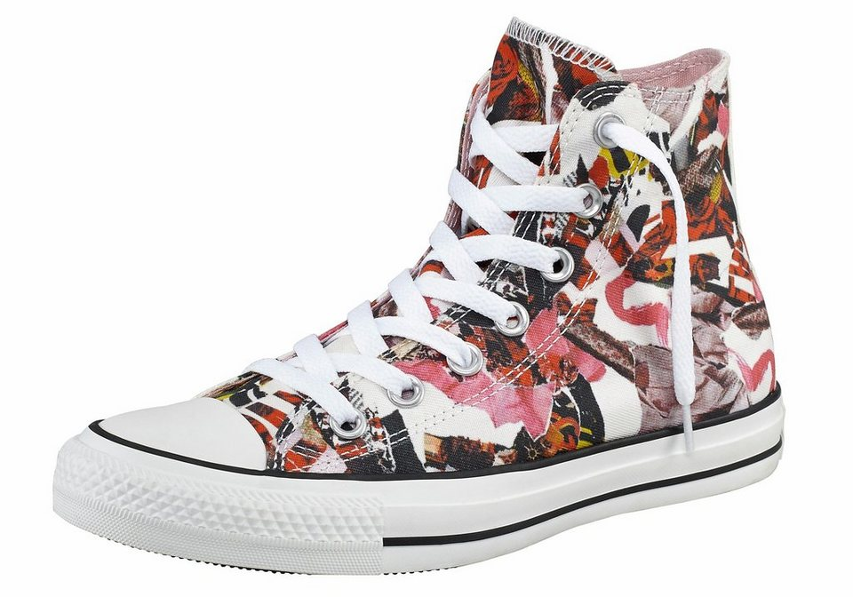 Converse All Star Pop Art Print Sneaker in Pink-Bunt