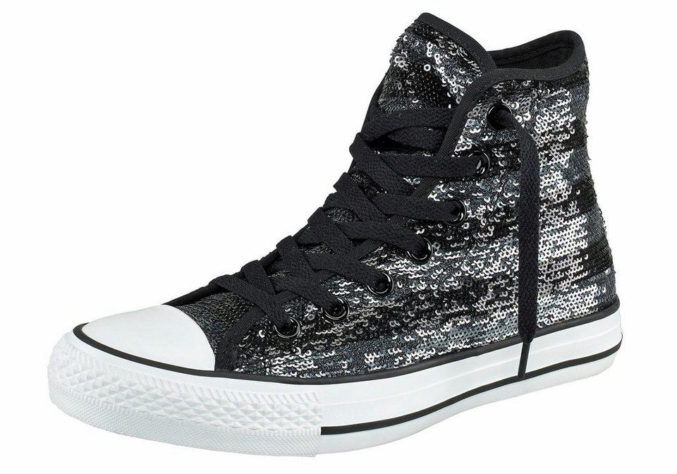 Converse CT All Star Sequin Flag Sneaker in Schwarz